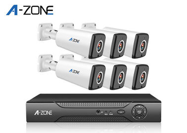 Cina Digital Infrared AHD CCTV Kit, 1.3MP 6 Channel Sistem Kamera Nvr Keamanan Rumah pabrik