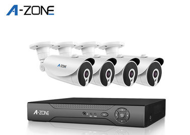 Cina Infrared 1080P 4 Camera Security System Dengan Dvr Vari Focal 3.6mm Lens 12pcs Nano leds pabrik